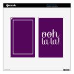 Ooh La La Purple Skins For Kindle Fire