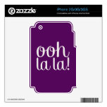 Ooh La La Purple Skins For The iPhone 3