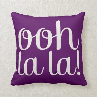 Ooh La La Purple Throw Pillow