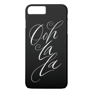 Ooh La La - Sensuous Feminine Lettering on Black iPhone 8 Plus/7 Plus Case