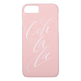 Ooh La La - Sensuous Feminine Lettering Pale Pink iPhone 8/7 Case