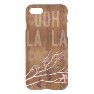 Ooh La  Shoes Branch on Wood Grain Look iPhone 8/7 Case