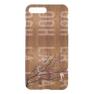Ooh La  Shoes Branch on Wood Grain Look iPhone 8 Plus/7 Plus Case