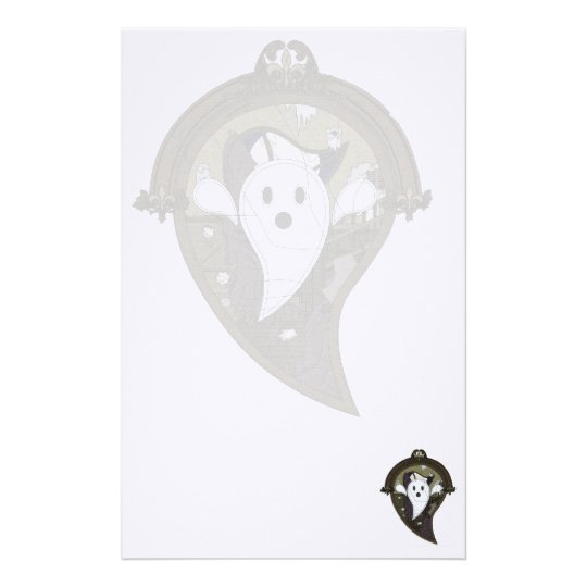 Ooh the Ghost Stationery