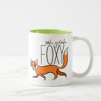 Ooh Yeah Foxy Two-Tone Coffee Mug