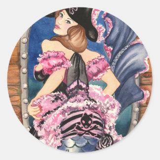 Oohlala Mermaid Classic Round Sticker