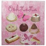 Oohlala temptation cookies Vintage Pink Paris Printed Napkin