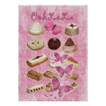 Oohlala temptation cookies Vintage Pink Paris Poster