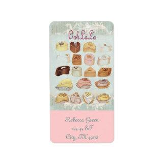 Oohlala temptation Vintage Chocolate Paris Fashion Custom Address Label