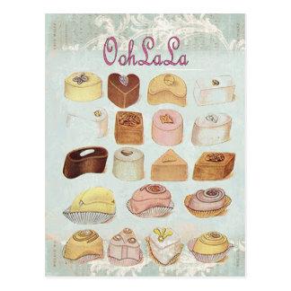Oohlala temptation Vintage Chocolate Paris Fashion Postcard