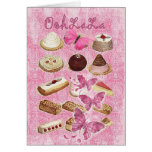Oohlala temptation Vintage Chocolate Pink Paris Card