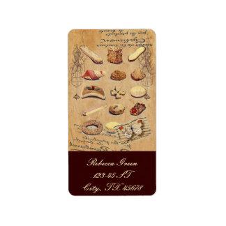 Oohlala temptation Vintage Cookies Paris Fashion Custom Address Label
