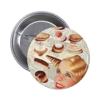 Oohlala temptation Vintage Paris Lady Fashion Buttons
