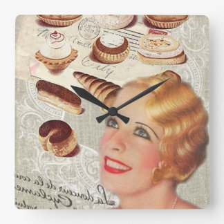 Oohlala temptation Vintage Paris Lady Fashion Wallclock