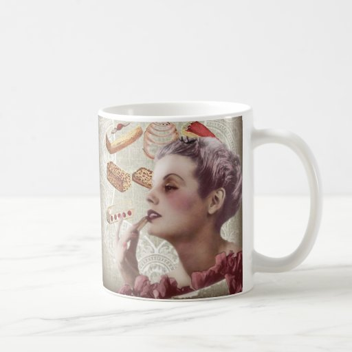 Oohlala temptation Vintage Paris Lady Fashion Coffee Mug