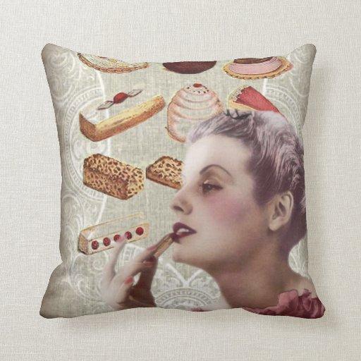 Oohlala temptation Vintage Paris Lady Fashion Pillow