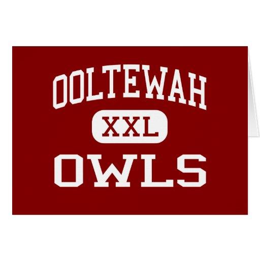 Ooltewah - búhos - centro - Ooltewah Tennessee Tarjeta