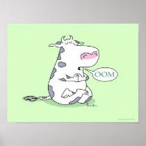 OOM COW poster by Sandra Boynton