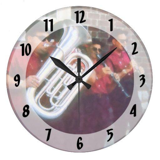 Oompah Band Large Clock