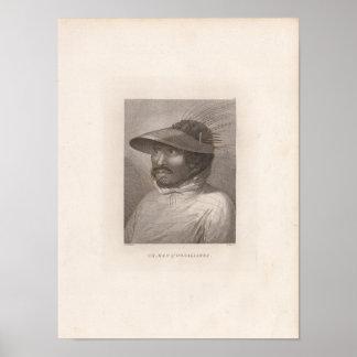 Oonalashka man, Alaska Poster
