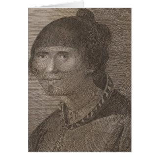 Oonalashka woman, Alaska Card