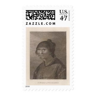 Oonalashka woman, Alaska Postage