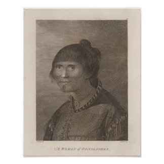 Oonalashka woman, Alaska Poster