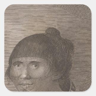 Oonalashka woman, Alaska Square Sticker