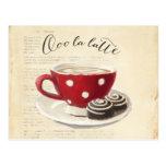 Ooo La Latte Postcard