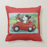 Ooodles of Poodles & Vintage Red Auto Pillow