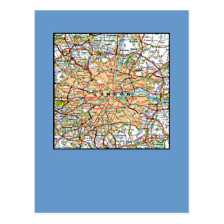 Ooof Londres Inglaterra del mapa Postal