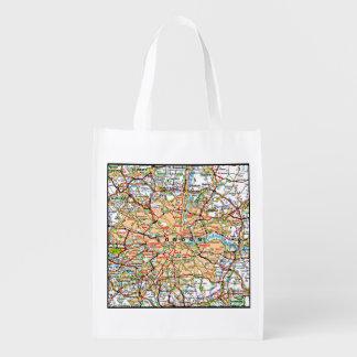 Ooof Londres Inglaterra del mapa Bolsa Reutilizable