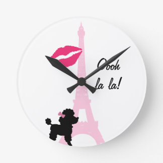 Oooh La La Paris Wall Clock
