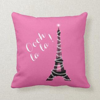 Oooh La La Throw Pillow pink