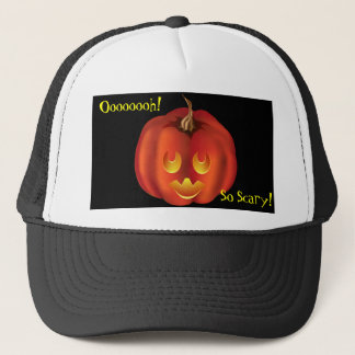 Oooh, So Scary! Vampire Jack-O-Lantern Halloween Trucker Hat