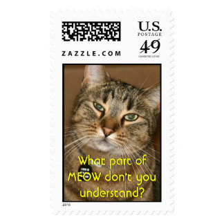 Ooooh! I see you! Stitch the Cat. Postage Stamps