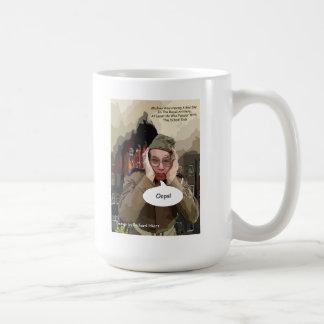 Ooops la artillería real ha hecho saltar la escuel tazas de café