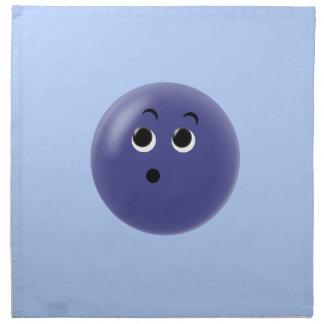 ¡Ooow! Cara sonriente tan azul Servilleta Imprimida
