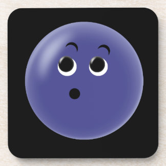 Ooow! So Blue Smiley Face Drink Coaster