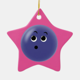 Ooow! So Blue Smiley Face Ceramic Star Decoration