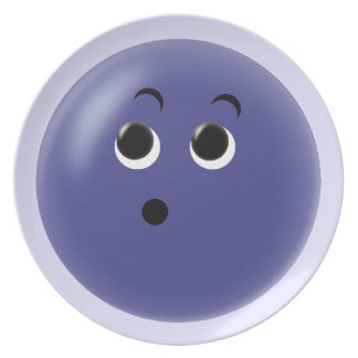 Ooow! So Blue Smiley Face Plates