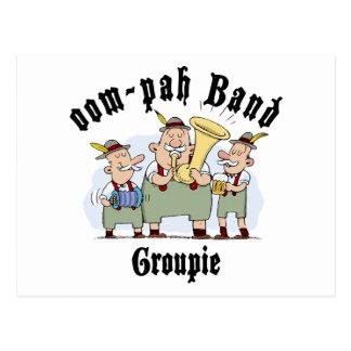 oop-pah Band Groupie Postcard