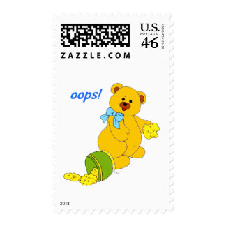 Oops Bear Postage Stamps