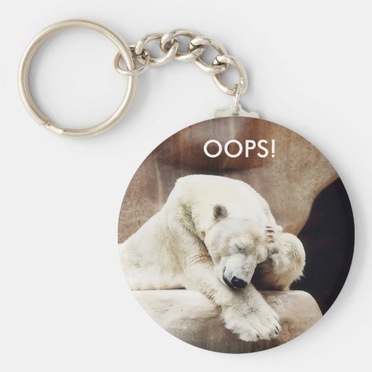 OOPS - Befuddled Bear Keychain