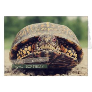 Oops Birthday Turtle Greeting Card