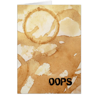 Oops Coffee Stains and Spills Card