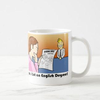 Oops, conseguí un grado inglés taza