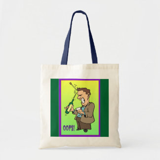Oops, corking problem tote bag