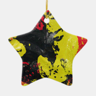 OOPS Double-Sided STAR CERAMIC CHRISTMAS ORNAMENT