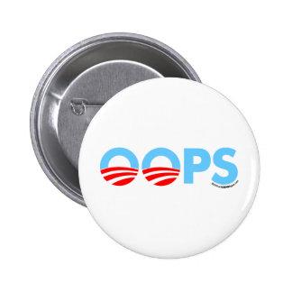 Oops error de Obama Pin Redondo De 2 Pulgadas